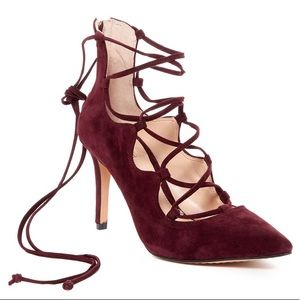 Vince Camuto Barsha Lace-up Pump in Cabernet